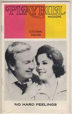 """""""No Hard Feelings""""  TRYOUT  Playbill  FLOP  1973   Boston  Eddie Albert"""