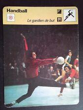 Sheet Editions Rencontre S.A Lausanne Handball The Keeper/Guardian Goalkeeper