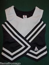 Youth Xs Extra Small Chasse' Cheerleader Top - Black, White