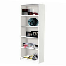 Estanteria alta 5 estantes 180 x 75 x 25 color blanco