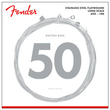 Fender 9050ML Stainless Flatwound Bass Strings .050-.100 Long Scale 073-9050-405
