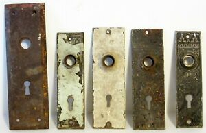 5 ~ DOOR KNOB ~ BACK PLATES ~ SALVAGE