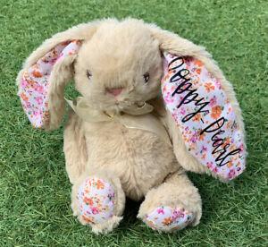 Personalised Rabbit Bunny Flower Girl Christening New Baby Birthday Easter Gift