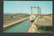 Canada 1963 St Lawrence Seaway Lambert Lock post card Prescott to New Market NJ