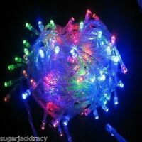 100 LED Fairy String Lights Christmas Wedding Tree Lighting Mood Light 10M MULTI