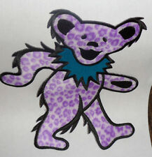 "Grateful Dead Purple DANCING BEAR Embroidered iron on Patch 8"" LARGE"