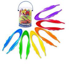 Learning Resources - 12 Childrens Easy Grip Jumbo Tweezers (Teachers Tub of 12)