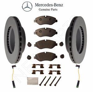 For Mercedes W906 Set Pair of 2 Front Brake Discs Rotors+Pad Set+2 X Sensors