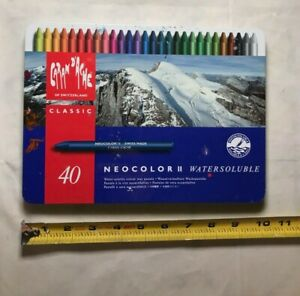 Vintage Caran d'ache Neocolor II classic watersoluble Set of 37 Crayons
