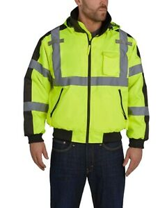 Utility Pro - High Visibility Bomber Jacket with Removable Fleece and Teflon - M