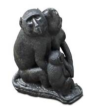"""BEAUTIFUL STONE SCULPTURE """"BABOON FAMILY"""" 34 kg. Marble column 399 GBP"""
