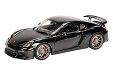 PORSCHE CAYMAN GT4 BLACK METALLIC 1/18 DIECAST MODEL CAR BY SCHUCO 450040100