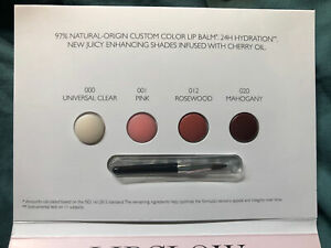 4 DIOR LIPGLOW Sample small Brush CARDED SEALED (Pink, Rosewood, Mahogany, Clear