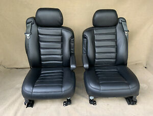 2005 2004 2003 Hummer H2 Front Seats In Black Leather Heated