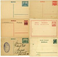Germany Stamps Postal Cards Scarce Group Of 6