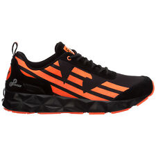 Emporio Armani EA7 sneakers men c2 light X8X033XK162M538 BLACK / ORANGE FLUO