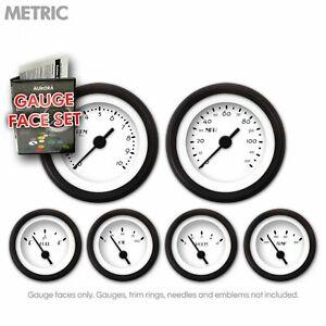 Gauge Face Set - Metric DECO XT White