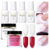6Pcs BORN PRETTY  Nail Dipping Glitter Powder System Liquid No UV Lamp Kit