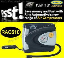 Ring RAC610 2018 Version 12v Plug Car Tyre Gauge Air Compressor Inflator Pump
