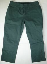 *NWT* CALVIN KLEIN WOMENS LADIES FOREST GREEN CAPRI PANTS SIZE 7 E120