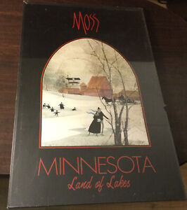 """MOSS"" Framed Poster -""Minnesota Land Of Lakes Art Exhibit"" -17"" X 26"" - Signed"