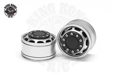 """1.75"""" Front Wheels Plus (Powered Hub) (2 pcs) for Tamiya 1/14 R/C Tractor Truck"""