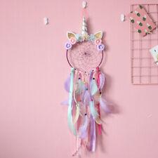 Unicorn Dream Catcher Feather Bedroom Wall Hanging Decoration Handwoven Handmade