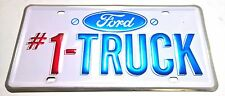 LICENSE PLATE FORD #1 TRUCK