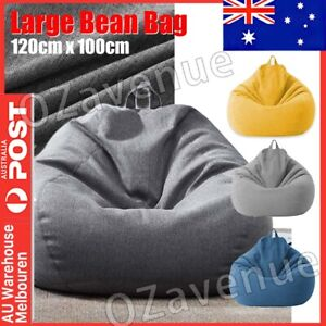 🔥 100*120cm Bean Bag Chair Cover Indoor Outdoor Home Game Seat Lazy Sofa Cover