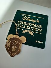 DISNEY Christmas collection Mickey Mouse hanging tree ornament gold plated rare