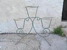 Porte-plantes ancien - Fer forgé 3 Pots