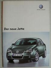 Prospekt Volkswagen VW Jetta zur Premiere, 6.2005, 20 Seiten