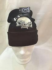 Lucky 13 Skull Custom Embroidered  Beanie Hat (BLACK)
