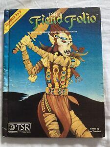 1981 TSR AD&D Advanced Dungeons & Dragons Fiend Folio
