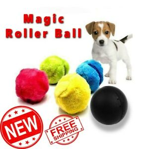 Magic Roller Ball Automatic Toy Dog Pet Cat Active Rolling Ball Electric Toy NEW
