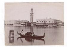PHOTO ANCIENNE Venise Venezia Italie Vers 1880 Italia Gondole Panorama Gondola