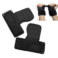 Weight Lifting Gym Hand Grips Palm Gel Pad Wrist Support Straps Training G UKYQ