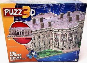 PUZZ3D THE WHITE HOUSE - 3D FOAM BACKED PUZZLE - 250 INTERMEDIATE **NEW**