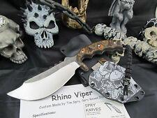 Spry Knives Custom Hand Made Rhino Viper Fighter Zombie Apocalypse Kydex Sheath