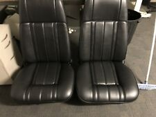Ford Xb Gt/Fairmont Sedan Front+Rear Seat Trim Covers In Black,aussie Made