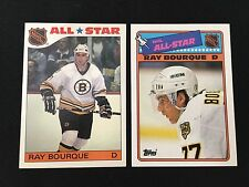 RAY BOURQUE 1985 & 1988 INSERT STICKERS ALL-STAR BOSTON BRUINS HOCKEY CARDS