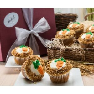 Dulcet Gift Baskets Heavenly Carrot Cupcakes -6 Count