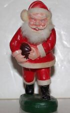 vintage plastic celluloid blow mold santa carrying a football Hong Kong Reliance