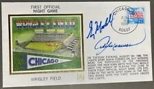 GREG MADDUX ANDRE DAWSON Autograph Wrigley 1st Night Game Cachet Cubs 8/9/88 JSA