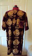 "Nigerian Igbo Traditional Groom Men's ""Isi Agu"" Velvet Loose Shirt / Top -Medium"