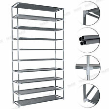 50 Pairs 10 Tiers Portable Steel Stackable Storage Shoe Rack Cabinet Organiser