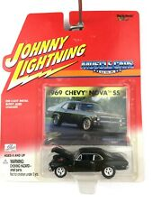 Johnny Lightning Muscle Cars USA 1969 69 Chevy Nova SS Dark Green Die Cast 1/64