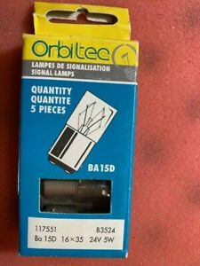 ORBITEC B3524 5W 24V LIGHT BULB, BOX OF 5, NEW OLD STOCK
