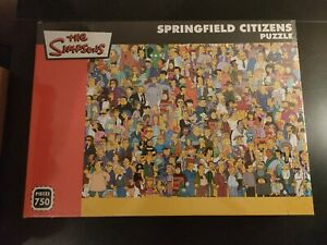 """The Simpsons """"Springfield Citizens"""" Jigsaw Puzzle - 750 Pieces"""