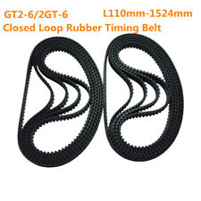 GT2-6 Timing Belt L110-1524mm Rubber Drive Belt 6mm Close Loop for 3D Printer